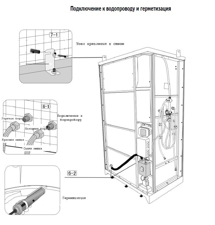 Инструкция по подключению душевую кабину