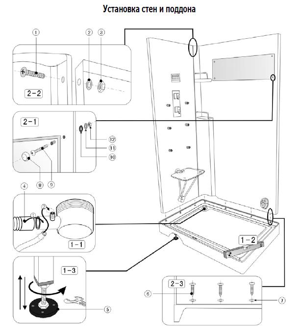 Инструкция по сборке гидромассажный бокс