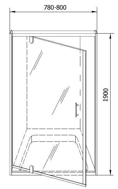 Душевая дверь в нишу Kolpa San Q-line TVO/S 90 ремонт ванный комнаты пвх